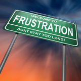 Conceito da frustração. Imagem de Stock