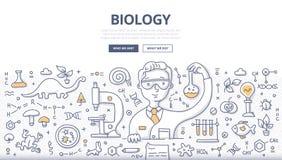 Conceito da garatuja da biologia ilustração royalty free