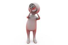 conceito da garrafa da bebida do bebê 3d Fotografia de Stock
