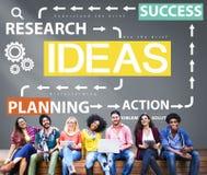 Conceito da gestão da ação do planeamento do sucesso das ideias Fotos de Stock Royalty Free
