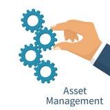Conceito da gestão de ativos Imagens de Stock Royalty Free