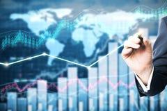 Conceito da gestão de fundo imagem de stock