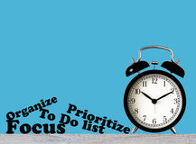 Conceito da gestão de tempo Imagens de Stock Royalty Free