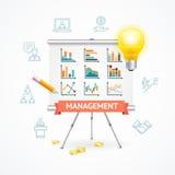 Conceito da gestão empresarial Vetor ilustração stock