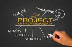 Conceito da gestão do projeto Imagem de Stock
