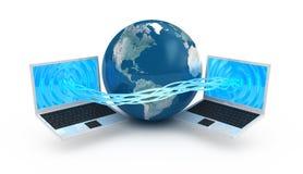 Conceito da globalização do Internet Imagens de Stock