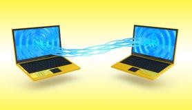 Conceito da globalização do Internet Fotografia de Stock Royalty Free