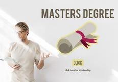Conceito da graduação da educação do conhecimento do grau de mestre foto de stock royalty free
