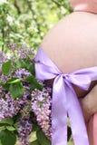 Conceito da gravidez Mulher gravida Imagens de Stock