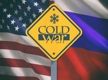 Conceito da guerra fria fotografia de stock royalty free