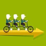 Conceito da ilustração de objetivas triplas da cooperação Imagens de Stock