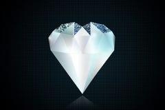 Conceito da ilustração do coração 3D do diamante ilustração royalty free