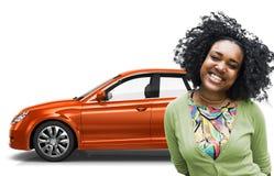 Conceito da ilustração do transporte 3D do carro com porta traseira do veículo do carro Foto de Stock Royalty Free
