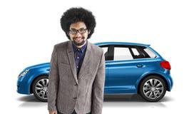 Conceito da ilustração do transporte 3D do carro com porta traseira do veículo do carro Fotos de Stock