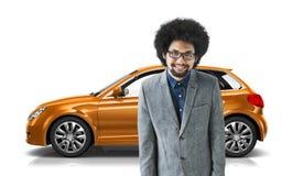 Conceito da ilustração do transporte 3D do carro com porta traseira do veículo do carro Imagem de Stock Royalty Free
