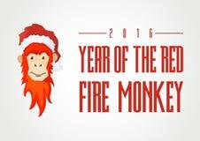 Conceito da ilustração do vetor do mokey do fogo vermelho Foto de Stock Royalty Free