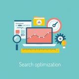 Conceito da ilustração da otimização da busca Imagens de Stock
