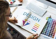 Conceito da imaginação criativa de projeto gráfico Imagens de Stock