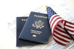 Conceito da imigração/curso fotos de stock