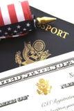 Conceito da imigração foto de stock