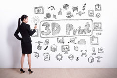 conceito da impressora 3D Foto de Stock Royalty Free
