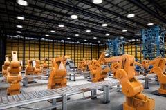 Conceito da indústria da automatização ilustração do vetor