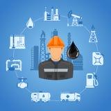 Conceito da indústria petroleira Foto de Stock