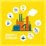 Conceito da indústria da construção civil Imagem de Stock Royalty Free