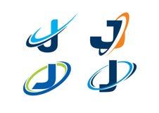 Conceito da infinidade da letra J imagem de stock royalty free