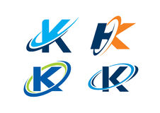 Conceito da infinidade da letra K fotografia de stock