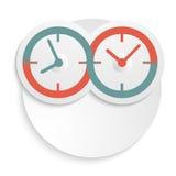 Conceito da infinidade do ícone do relógio de ponto isolada Fotos de Stock Royalty Free