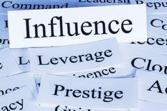 Conceito da influência Imagens de Stock