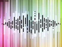 Conceito da informática do equalizador do volume da música ilustração stock