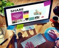 Conceito da informação de feedback da troca da conexão da parte imagem de stock