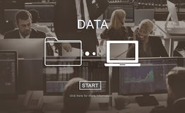 Conceito da informação de sistema da análise do base de dados dos dados imagens de stock
