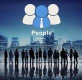 Conceito da informação do homepage da comunidade do ícone dos povos Imagem de Stock
