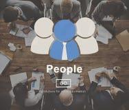 Conceito da informação do homepage da comunidade do ícone dos povos Fotografia de Stock Royalty Free