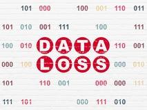 Conceito da informação: Perda dos dados no fundo da parede Fotografia de Stock Royalty Free