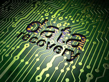 Conceito da informação: Recuperação dos dados no circuito Foto de Stock Royalty Free