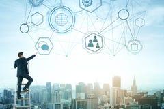 Conceito da inovação, da liderança e do futuro fotos de stock