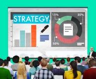 Conceito da inovação das ideias dos dados do mercado do plano da estratégia Foto de Stock Royalty Free