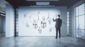 Conceito da inovação e da ideia Foto de Stock