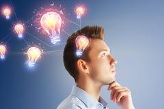 Conceito da inovação e da solução imagem de stock