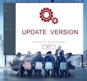 Conceito da instalação do ajuste do reparo do programa da atualização da configuração Foto de Stock Royalty Free