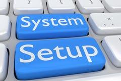Conceito da instalação do sistema Foto de Stock Royalty Free