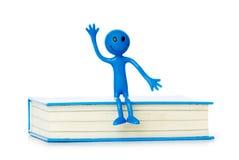 Conceito da instrução - livros e smilie Foto de Stock Royalty Free