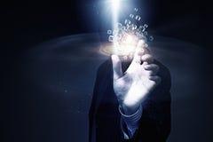 Conceito da integração da tecnologia Meios mistos Imagens de Stock Royalty Free
