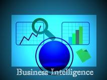 Conceito da inteligência empresarial, que igualmente representa OLAP que executa a análise multidimensional dos dados comerciais Imagens de Stock