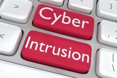 Conceito da intrusão do Cyber Imagem de Stock