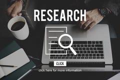 Conceito da investigação da descoberta da análise da pesquisa imagens de stock royalty free